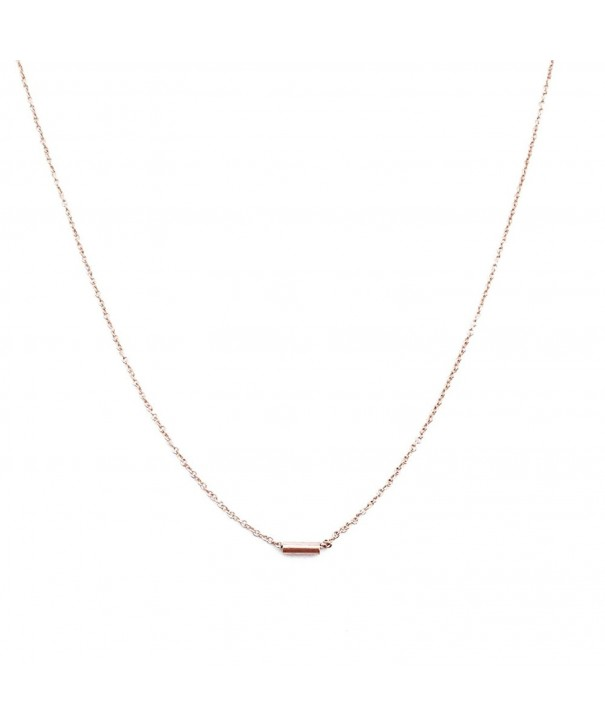 HONEYCAT Horizontal Necklace Minimalist Delicate