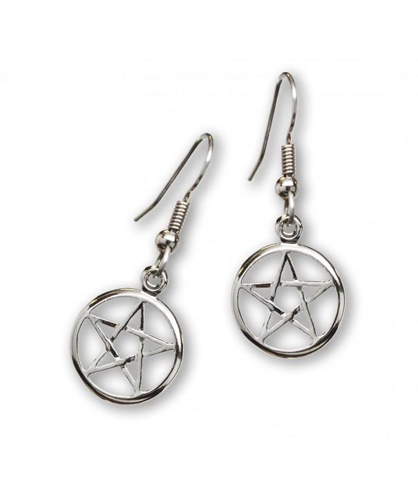 Mystical Wiccan Pentacle Pentagram Earrings