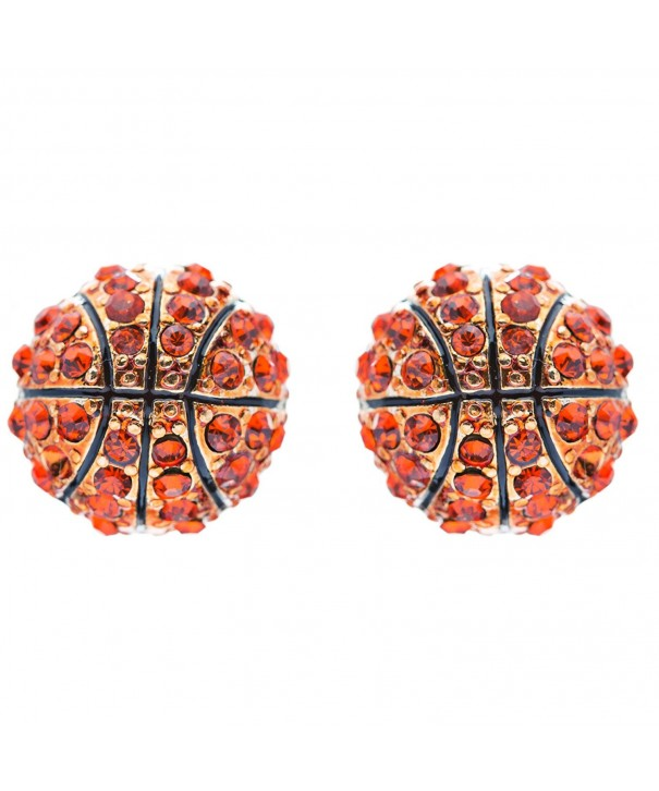 Basketball Crystal Rhinestone Fashion Earrings