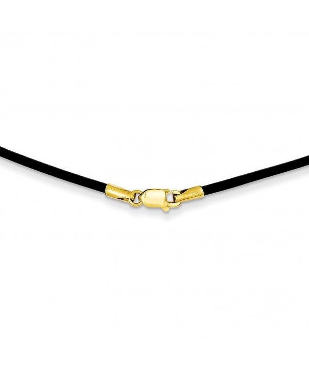 Yellow 1 5mm Black Leather Necklace