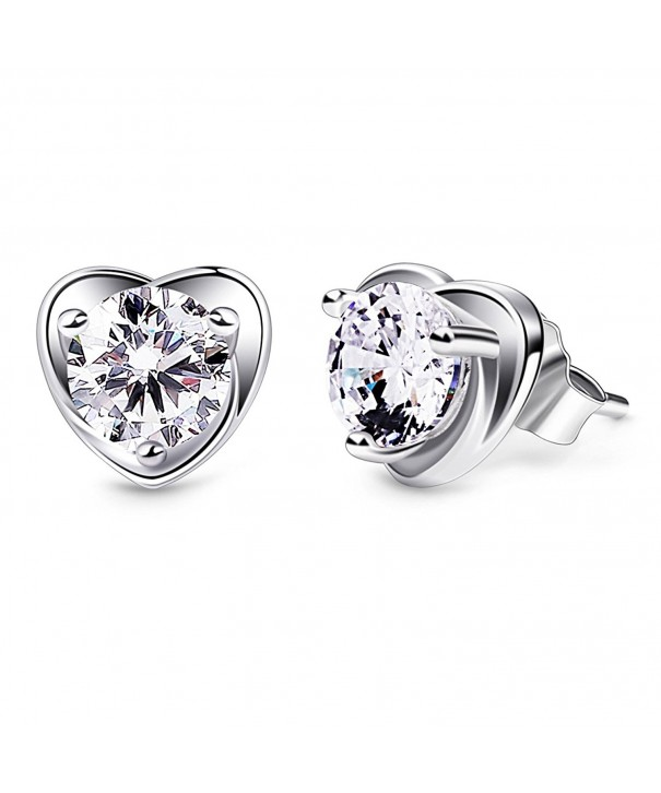 B Catcher Sterling Zirconia Earrings Valentines
