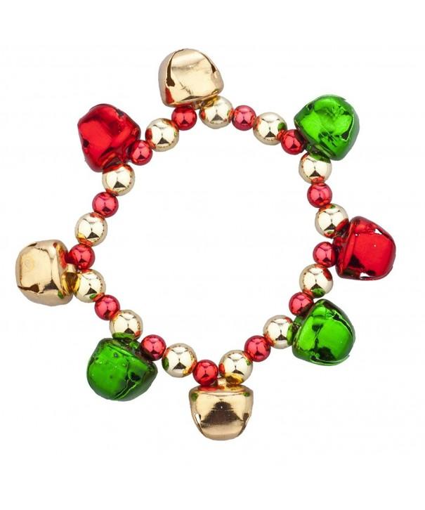 Lux Accessories Goldtone Christmas Bracelet