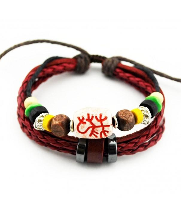 Christmas Leather Religious Adjustable Bracelet