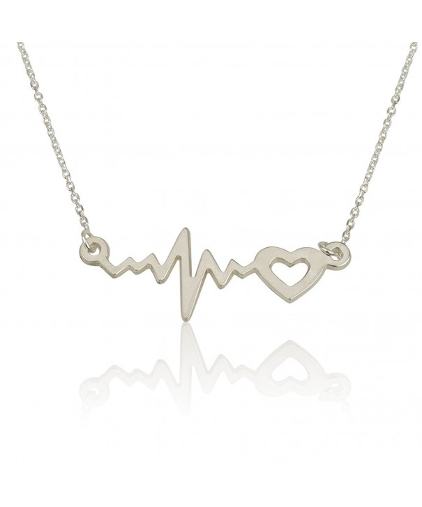 Heartbeat Necklace Lifeline Pendant Sterling