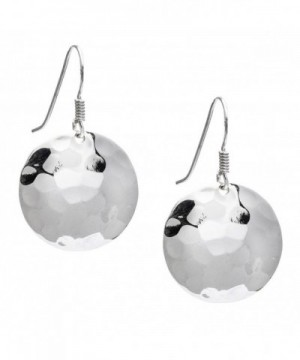 Silverly Womens Sterling Hammered Earrings
