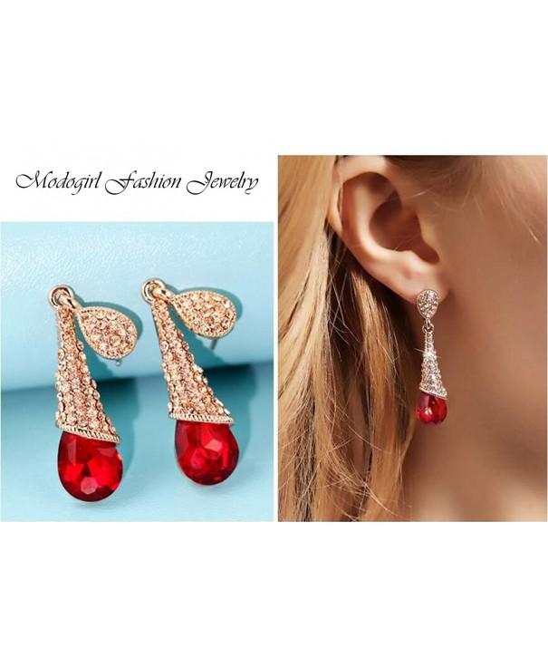 Vintage Austrian Crystal Dangle Earrings