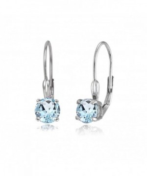 Sterling Silver Topaz Leverback Earrings