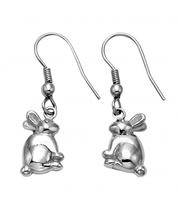 Stainless Steel Bunny Rabbit Earrings