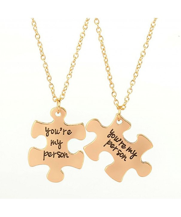 Pendant Puzzle Necklaces Plated Necklace