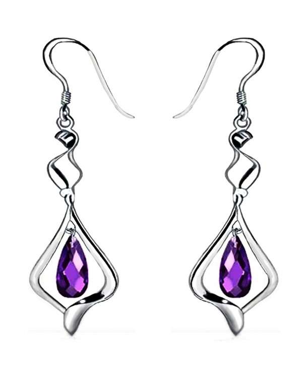 Plated Crystal Fashion Sterling Earrings