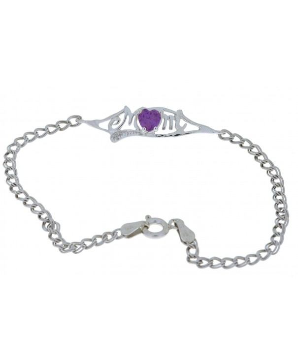 Created Alexandrite Diamond Bracelet Sterling