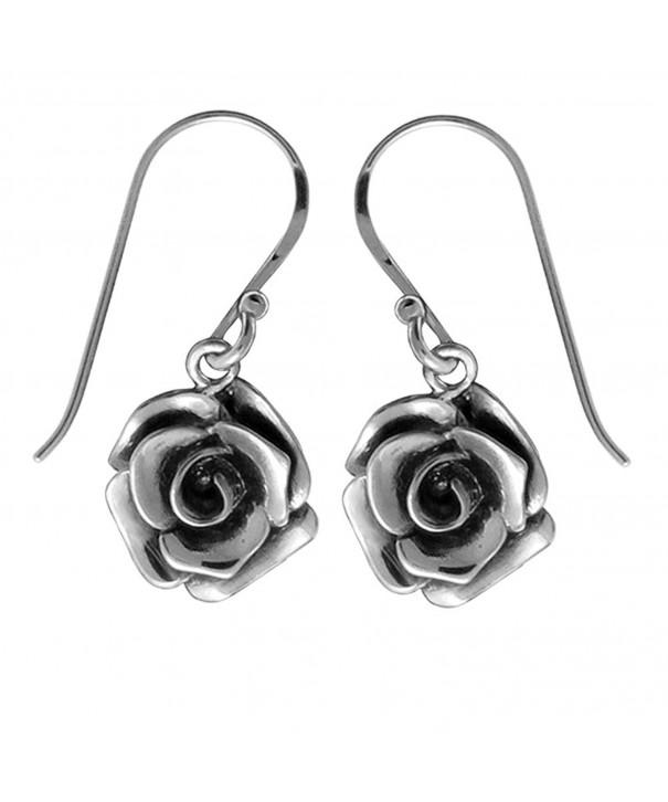 Boma Sterling Silver Rose Earrings