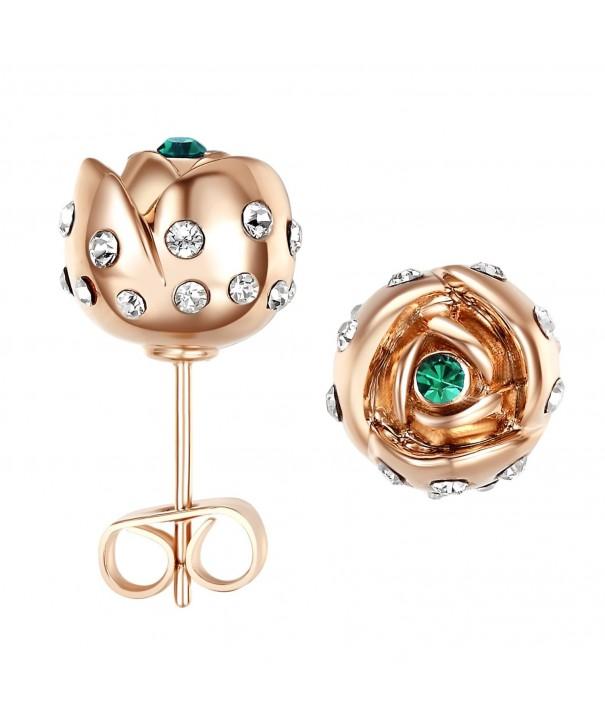 Yoursfs Earrings Pierced zirconia earrings
