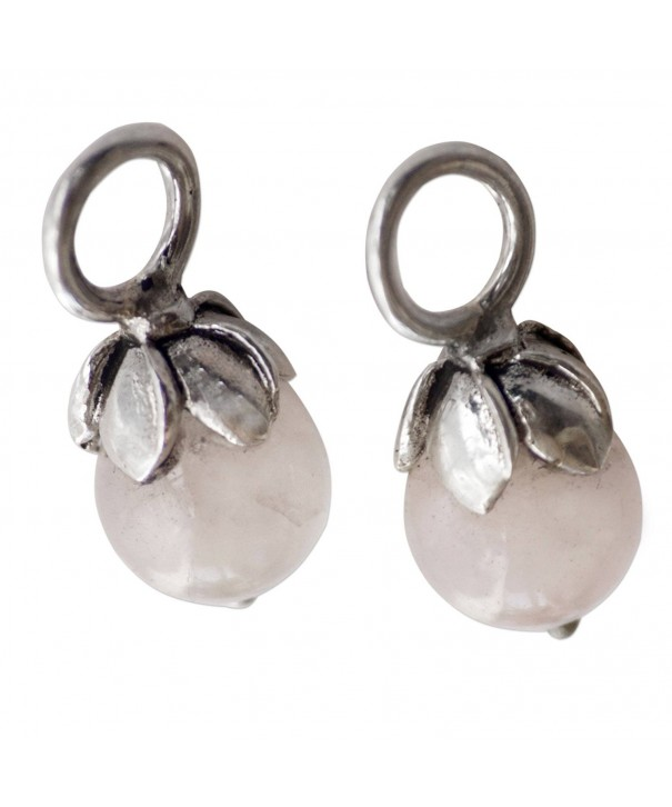 NOVICA Quartz Sterling Earring Budding