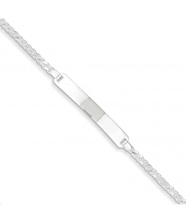 Sterling Silver Polished Engravable Bracelet