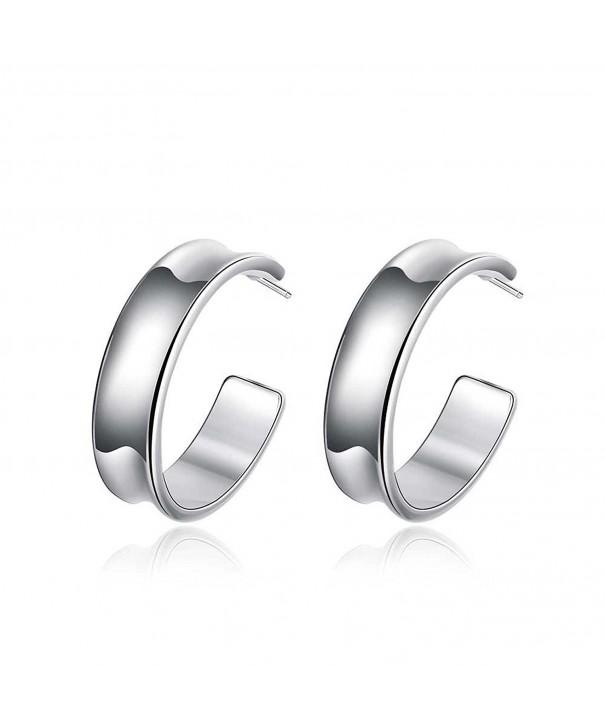 Sterling Polished Hammered Earrings Diameter