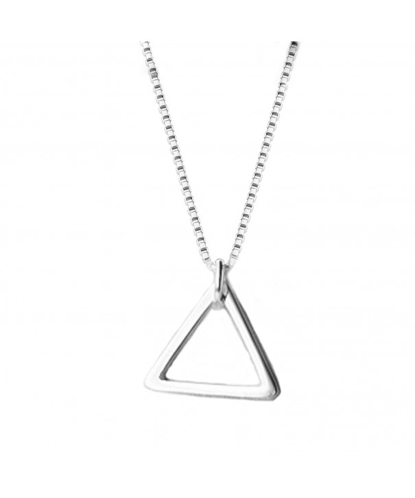 Helen Lete Geometry Sterling Necklace triangle