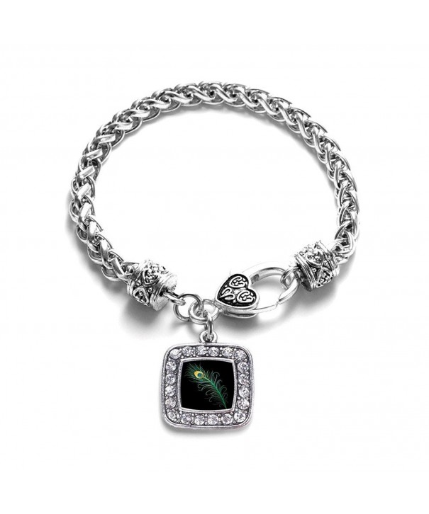 Peacock Feather Classic Silver Bracelet