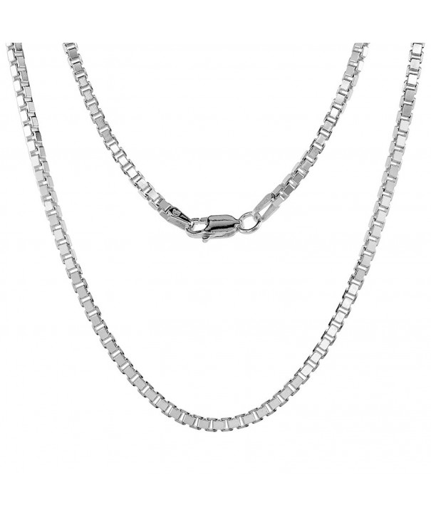 Sterling Silver Necklace Square Medium