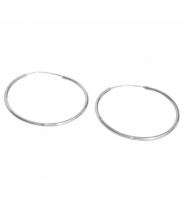 Med Large Continuous Earrings Sterling Silver