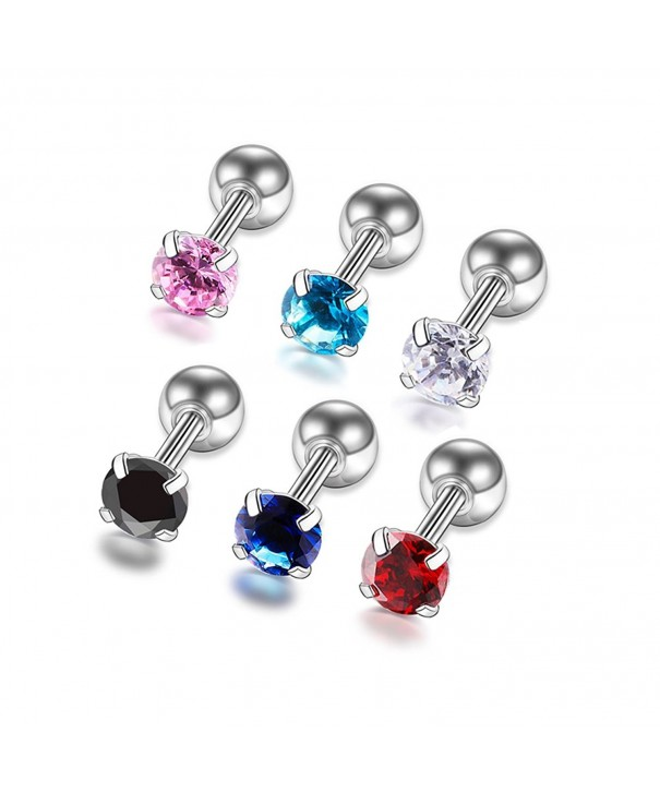 Zirconia Earrings Stainless Earring Piercing