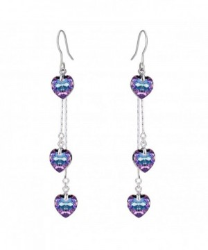 FANZE Silver Tone Earrings Swarovski Crystal