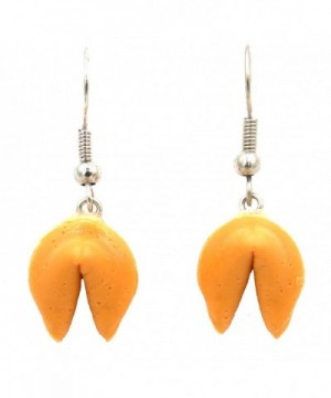 Polymer Clay Fortune cookie earrings