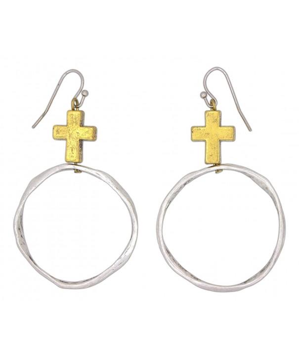 Fabu Jewelry Gold Toned Hammered Earrings
