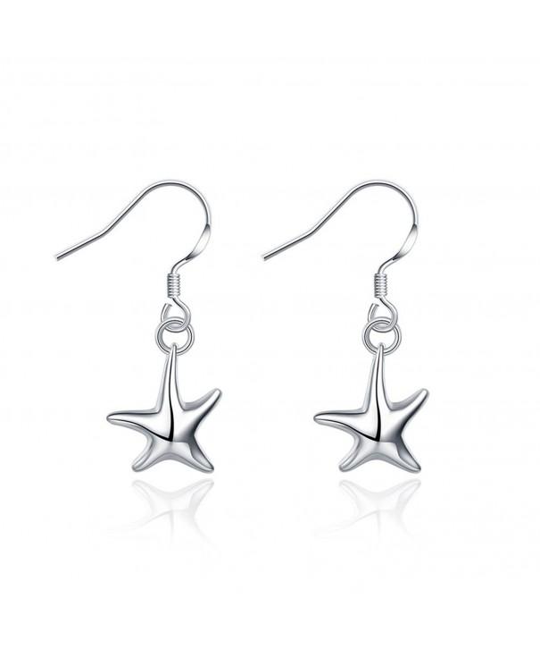 SUNGULF Sterling Polished Starfish Earrings