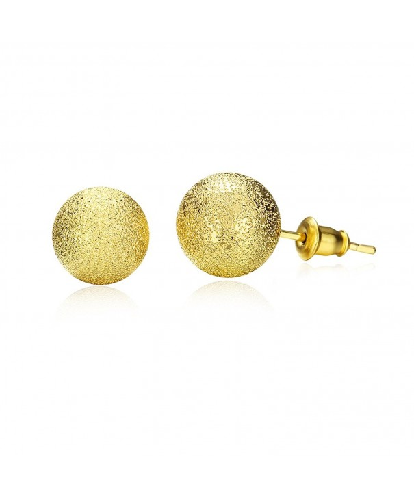 J Gold Plated Earrings pushback