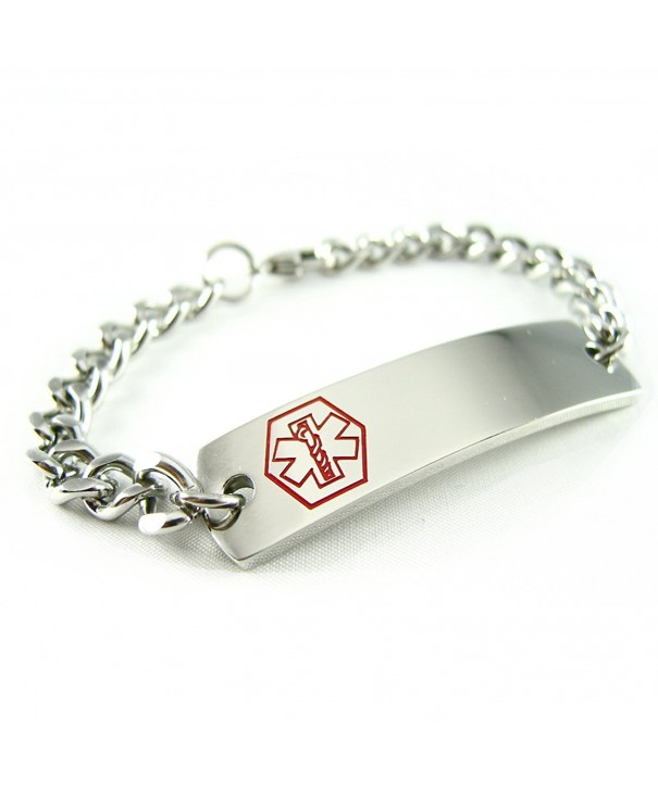 MyIDDr Pre Engraved Customizable Coumadin Bracelet