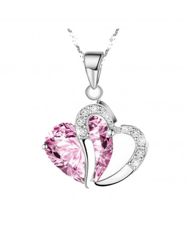 Lookatool Crystal Rhinestone Pendant Necklace