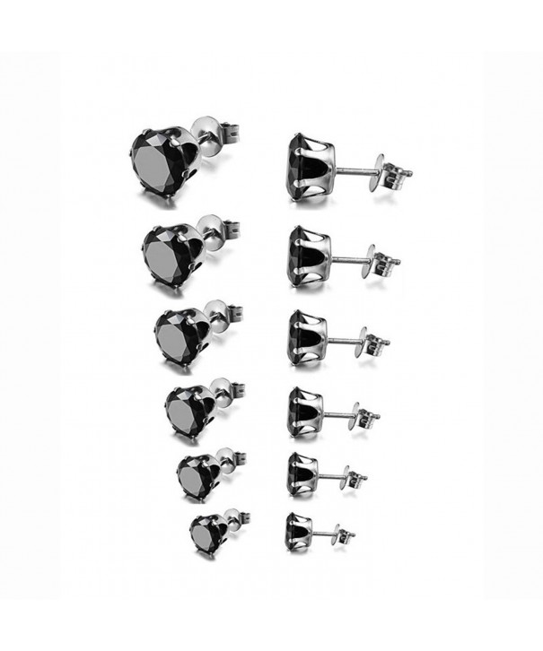 Stainless Steel Womens Round Earrings