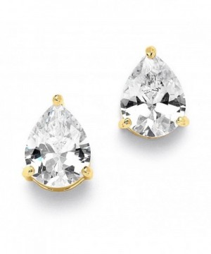 Mariell Pear Shaped Zirconia Solitaire Earrings