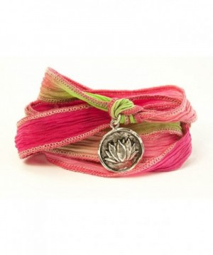 Lotus Wax Seal Wrap Bracelet