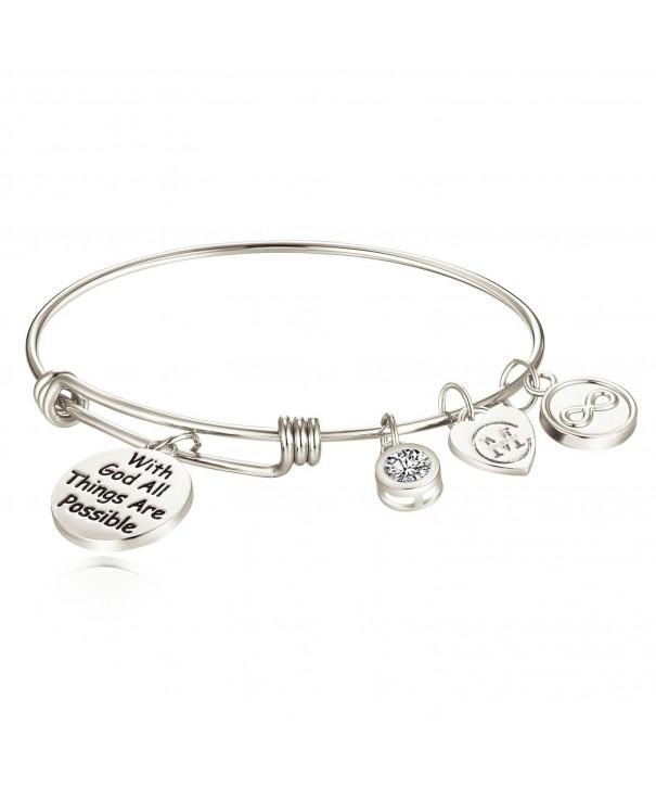 Inspirational Bracelet Engraved Possible Religious
