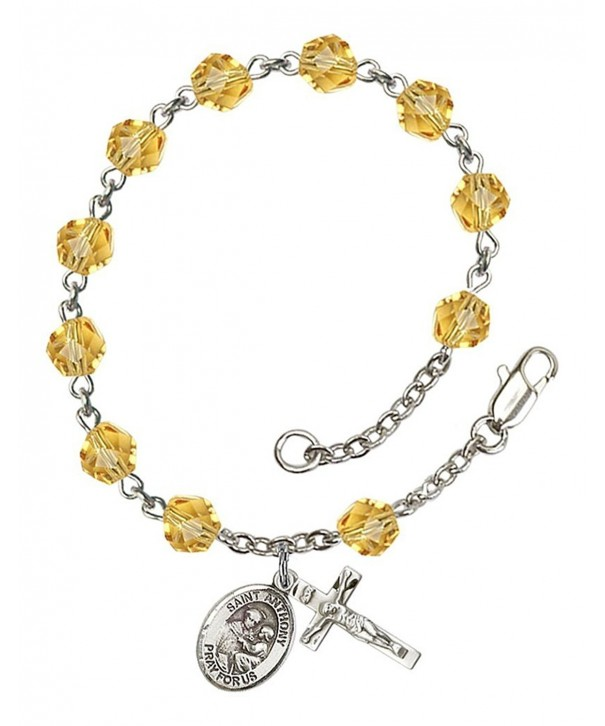 November Rosary Bracelet Anthony Petite
