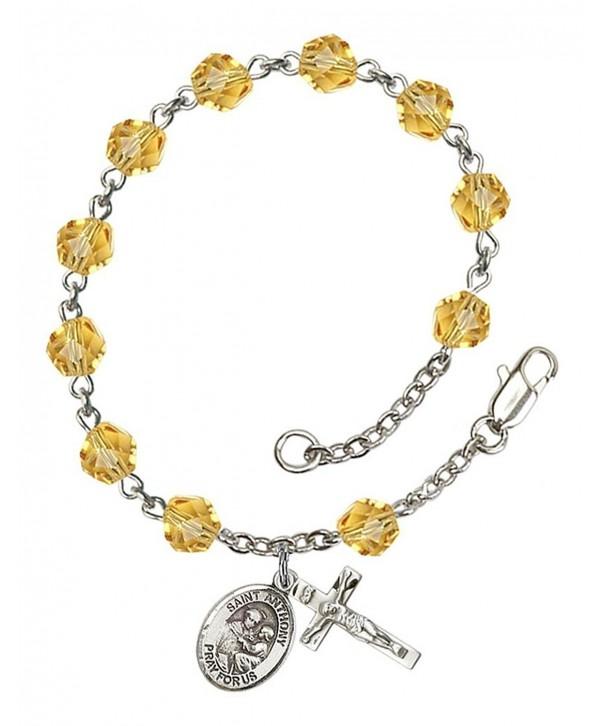 November Rosary Bracelet Anthony Petite