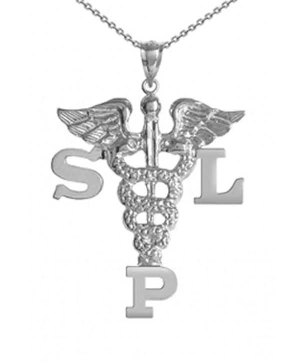 NursingPin Speech Language Pathologist Necklace Silver