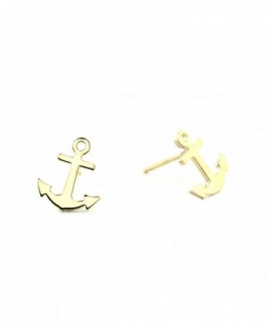 Sterling Silver ANCHOR Stud Earring