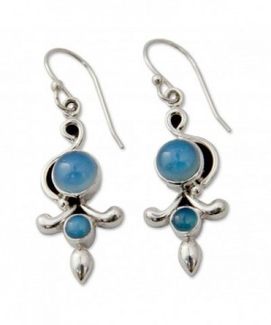 NOVICA Sterling Chalcedony Earrings Garland