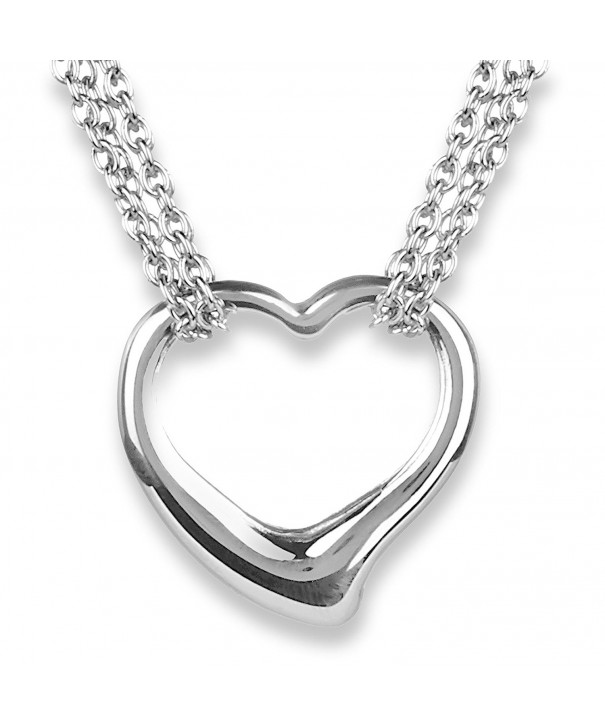 ELYA Stainless Hearts Necklace Toggle