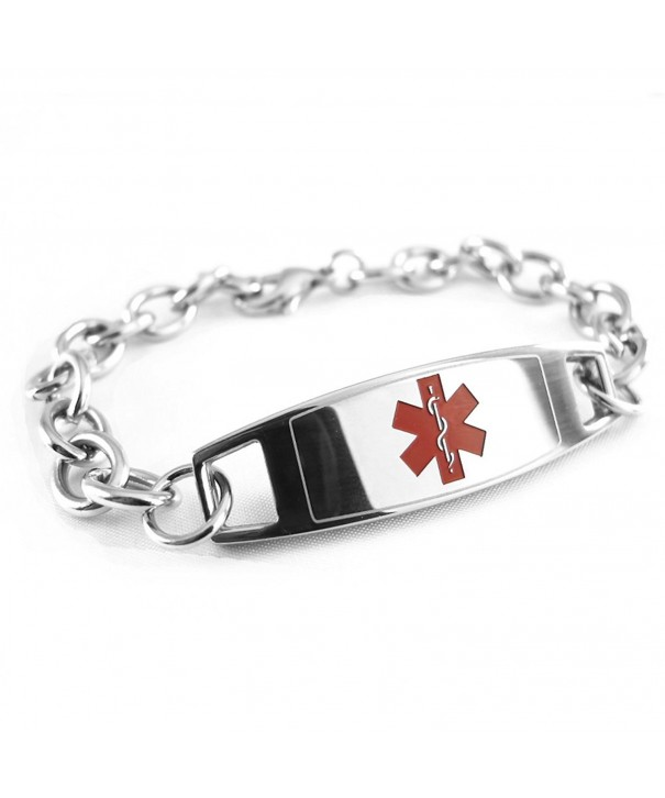 MyIDDr Pre Engraved Customizable Alzheimers Link
