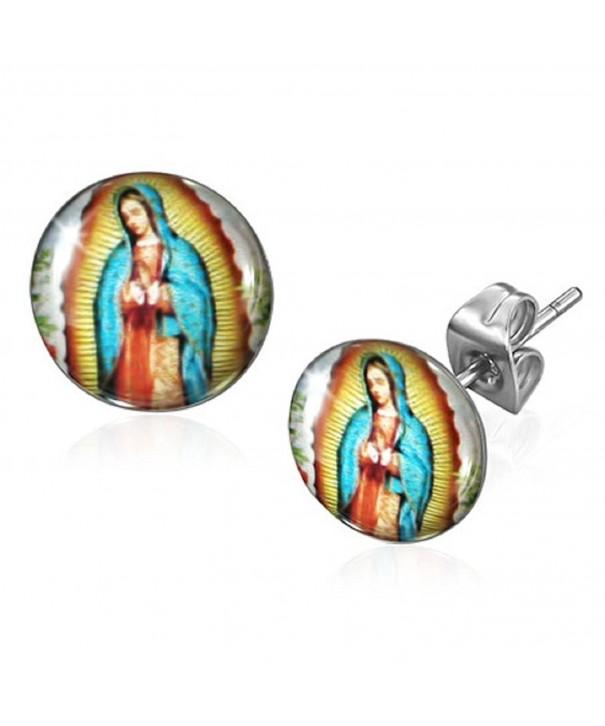 Guadalupe Nuestra Circle Earrings Virgen