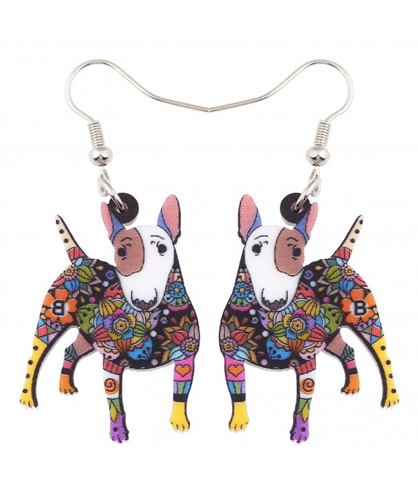 Acrylic Terrier Earrings Fashion Multicolor