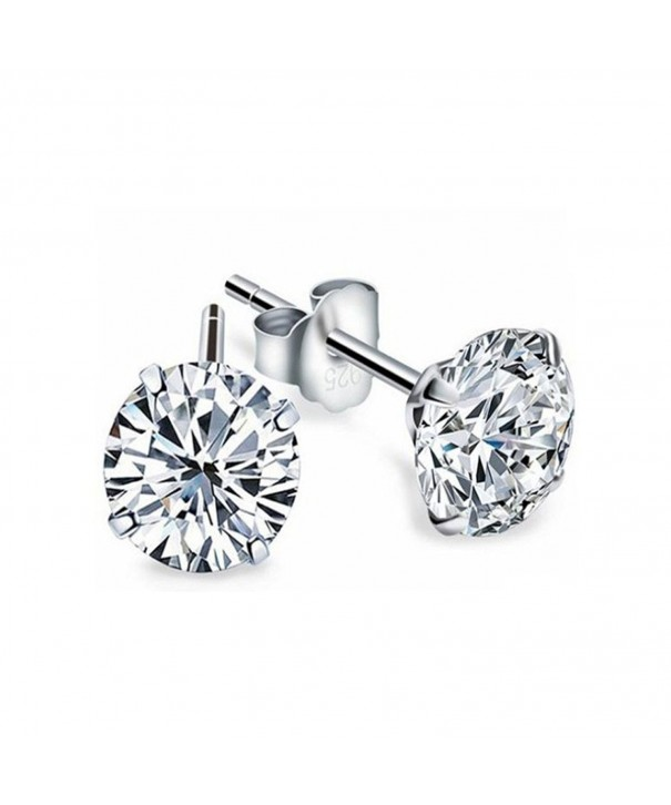 Sterling Silver Zirconia Earrings Children