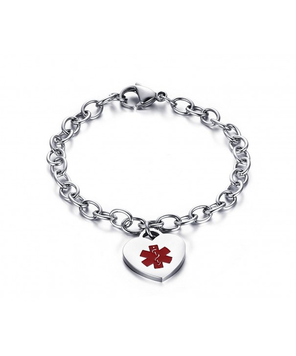 Custom Engraving Stainless Medical Bracelets Inches