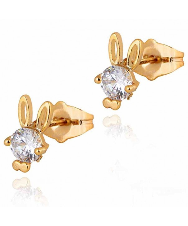 YAZILIND Charming Plated Zirconia Earrings