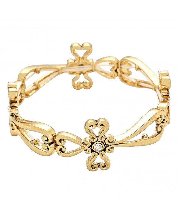 Rosemarie Collections Religious Stretch Bracelet