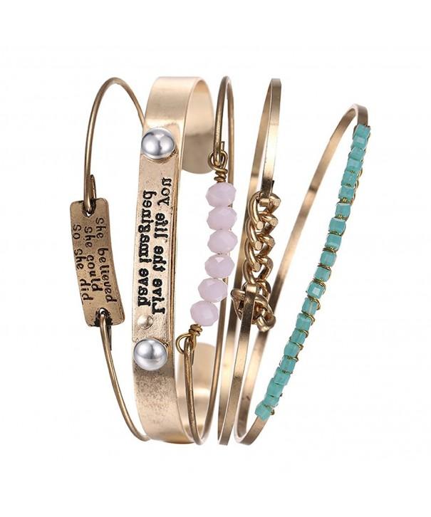 Bracelets Turquoise Triangle Stackable Bracelet